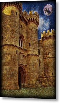 Castle By Moonlight Metal Print by Lee Dos Santos