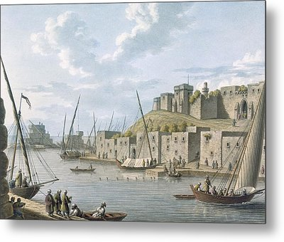 Castle In The Island Of Tortosa, 1805 Metal Print by William Watts
