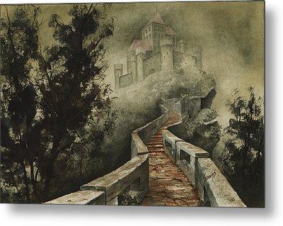 Castle In The Mist Metal Print by Sam Sidders