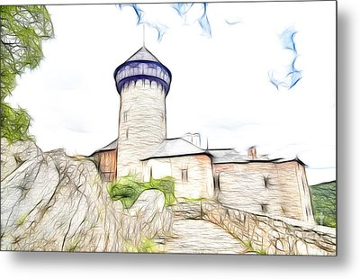 castle of the holy order - Sovinec castle Metal Print by Michal Boubin