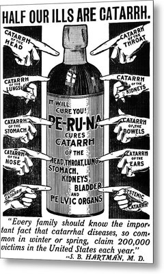 Catarrh Cure For What Ails You C. 1905 Metal Print by Daniel Hagerman
