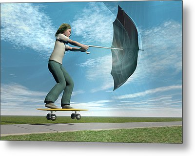 Catch The Wind Metal Print by Carol & Mike Werner