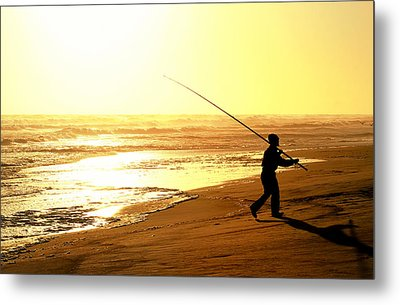 Catching The Last Rays... Metal Print by A Rey
