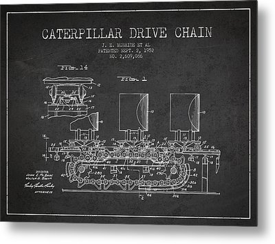 Caterpillar Drive Chain Patent From 1952 Metal Print