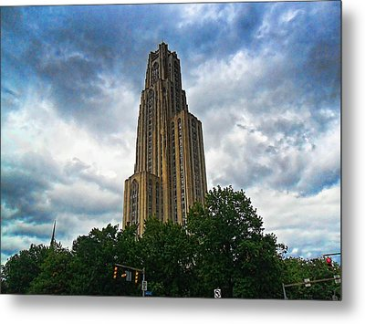 Cathedral Of Learning Metal Print by S Patrick McKain