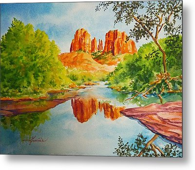 Cathedral Rock  Metal Print by Gracia  Molloy