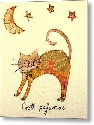 Cats Pajamas Metal Print by Hazel Millington