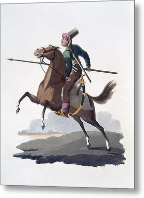 Cavalry Man, 1818 Metal Print by English School
