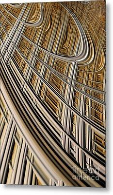 Celestial Harp Metal Print by John Edwards