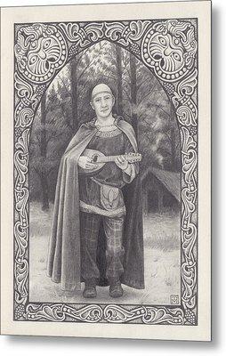 Celtic Bard Metal Print by Tania Crossingham
