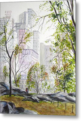 Central Park Stroll Metal Print