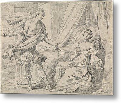 Cephalus Reveals Himself To Procris, Johann Liss Metal Print by Johann Liss