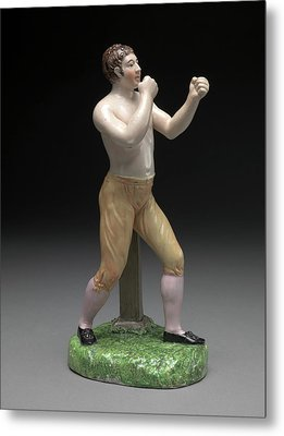 Ceramic, The Boxer Tom Cribb In Canary Breeches Metal Print