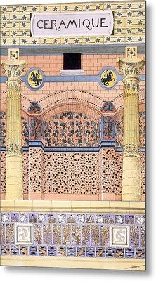 Ceramics Designs For Tiled Wall Metal Print by Rene Binet