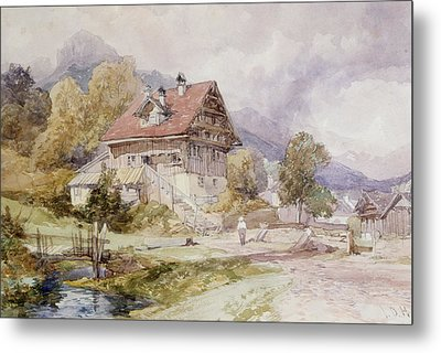 Chalet, Brunnen, Lake Lucerne Metal Print by James Duffield Harding