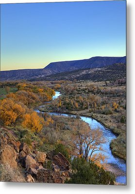 Chama River At Sunset Metal Print by Alan Vance Ley