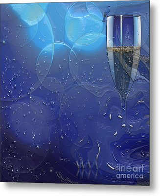 Champagne Blue  Metal Print by Liane Wright