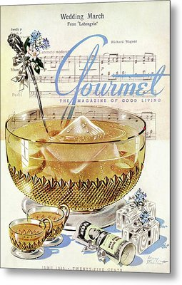 Champagne Punch And The Wedding March Metal Print by Henry Stahlhut
