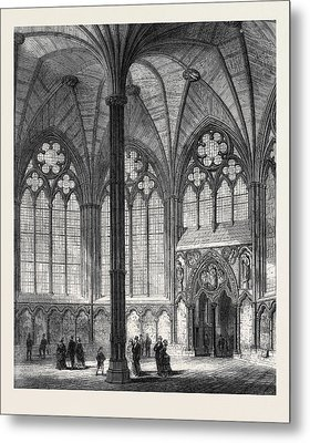 Chapter-house Of Westminster Abbey Lately Restored 1873 Metal Print by English School