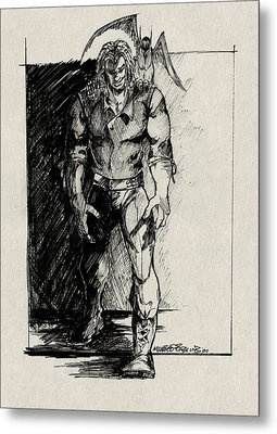 Character Sketch Metal Print by Michele Engling