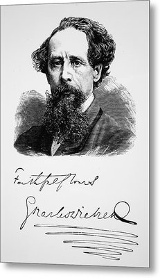 Charles Dickens Metal Print by English School