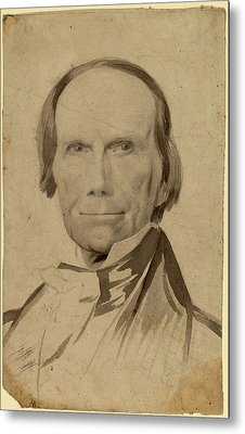 Charles Wesley Jarvis, Henry Clay, American Metal Print by Quint Lox