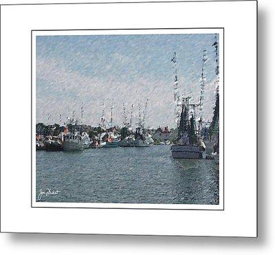 Charleston Shrimp Boats Metal Print