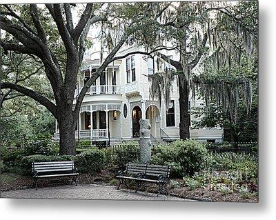 Charleston South Carolina Historical Victorian Mansion - Charleston South Carolina Southern Mansions Metal Print by Kathy Fornal