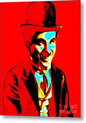 Charlie Chaplin 20130212 Metal Print by Wingsdomain Art and Photography