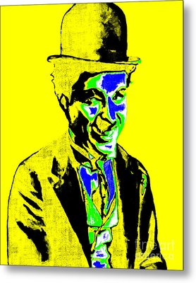 Charlie Chaplin 20130212p60 Metal Print by Wingsdomain Art and Photography