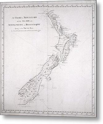 Chart Of New Zealand Metal Print