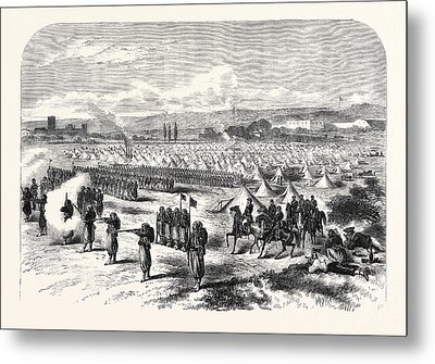 Chassepot Rifle Instruction At The Camp Of St Metal Print