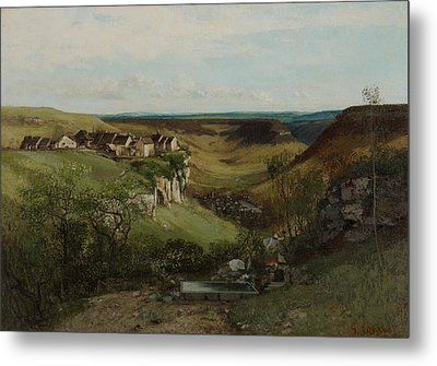 Chateau Dornans Metal Print by Gustave Courbet