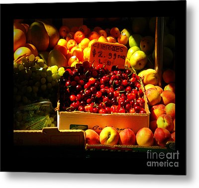 Cherries 299 A Pound Metal Print by Miriam Danar