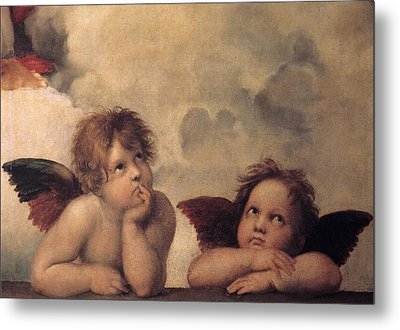 Cherubs On The Sistine Chapel Metal Print by Raphael