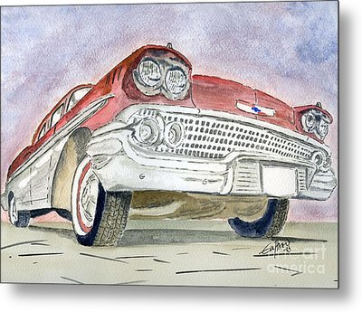 Metal Print featuring the painting Chevrolet II by Eva Ason