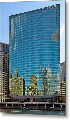 Chicago - 333 West Wacker Drive Metal Print by Christine Till