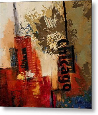 Chicago Collage Alternative Metal Print by Corporate Art Task Force