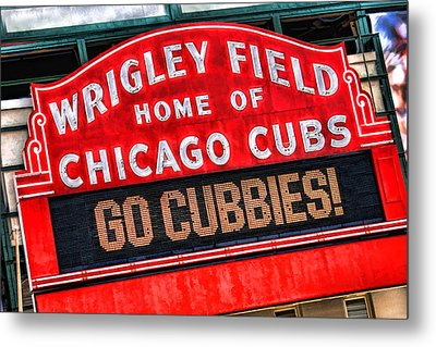 Chicago Cubs Wrigley Field Metal Print