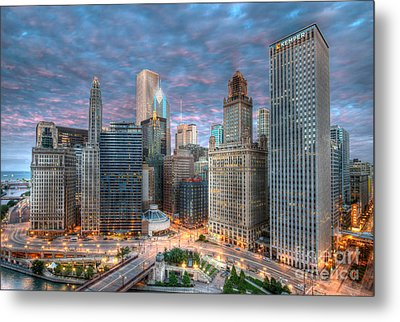 Chicago Hdr Metal Print by Jeff Lewis