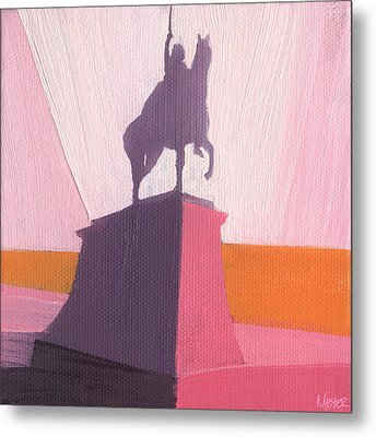 Chicago Kosciuszko Statue 16 Of 100 Metal Print by W Michael Meyer