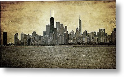 Chicago On Canvas Metal Print by Milena Ilieva