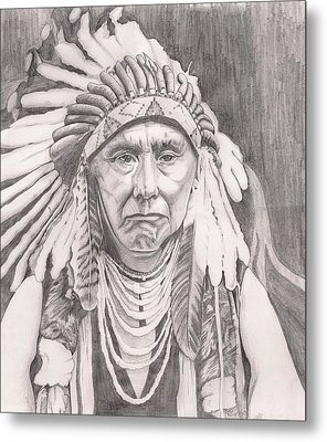 Chief Joseph Metal Print by Beverly Marshall