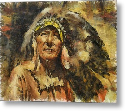 Chief Metal Print by Shimi Gasaba