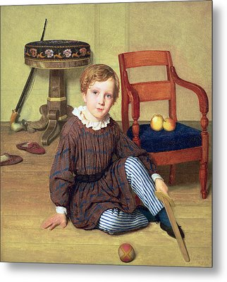 Childhood Metal Print by Ludvig August Smith