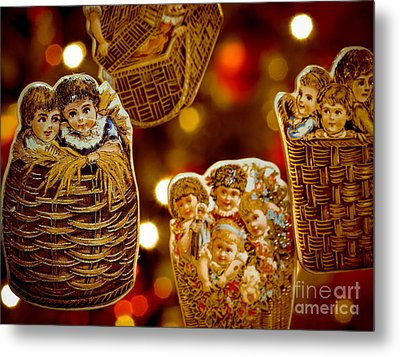 Children In Baskets Metal Print by Amy Cicconi