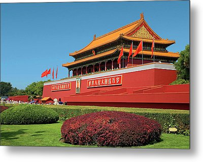 China, Beijing, The Forbidden City Metal Print by Miva Stock