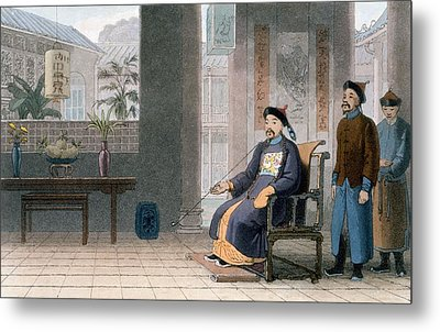 Chinese Of Rank, 1810 Metal Print