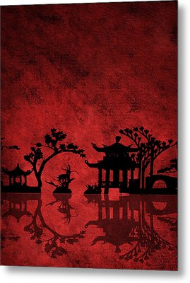 Chinese Red Metal Print