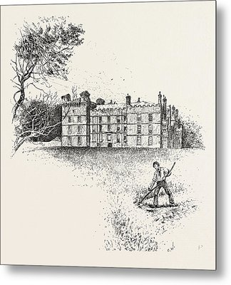 Chipchase Castle,  Is A 17th-century Jacobean Mansion Metal Print